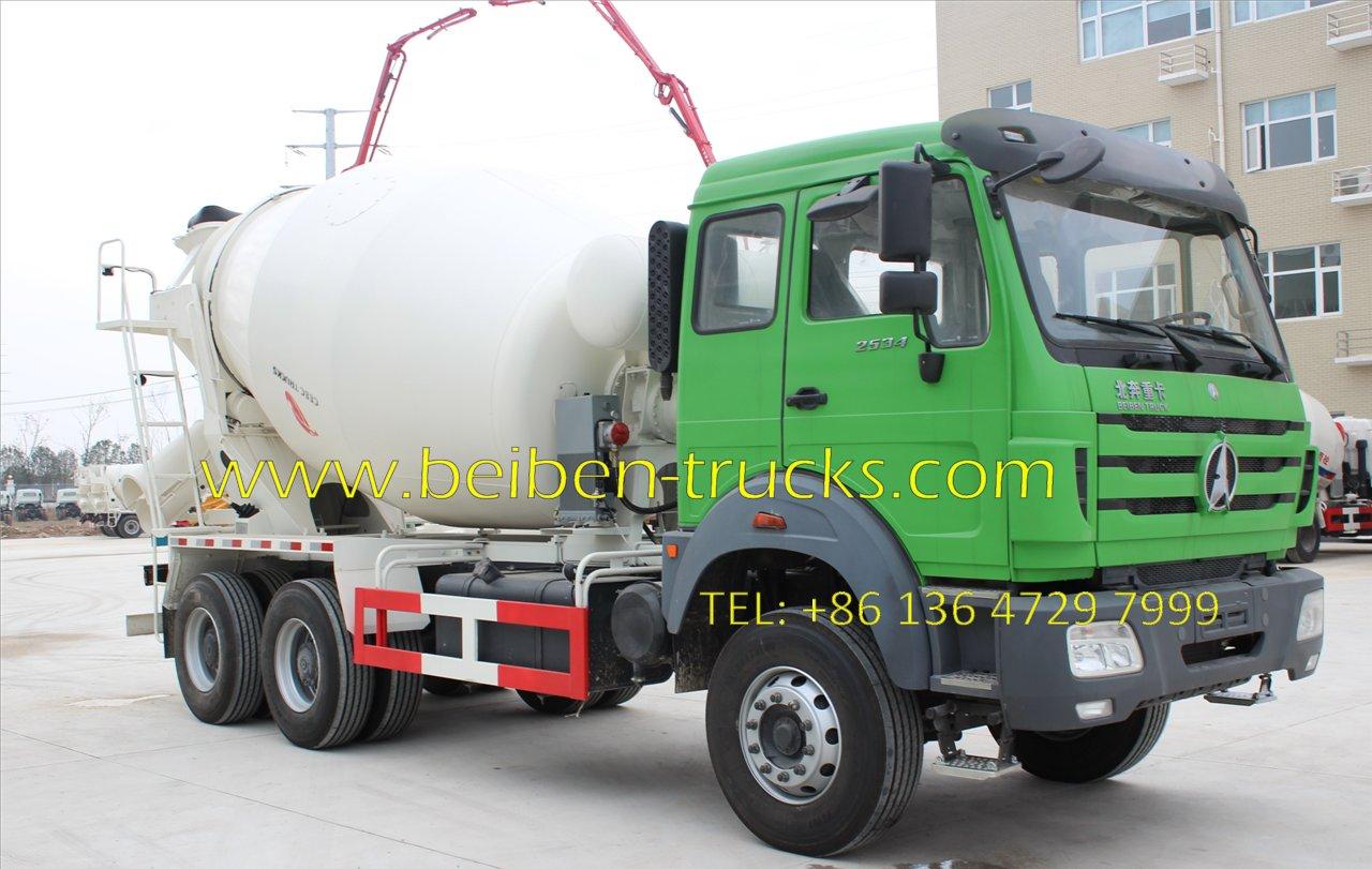 beiben 10 CBM mixer truck manufacturer