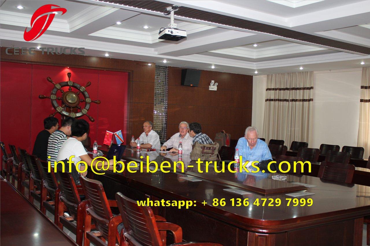 Belgium customer order beiben truck