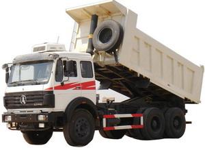 beiben 2534 tipper truck