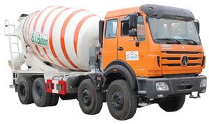 beiben 3134 cement mixer truck