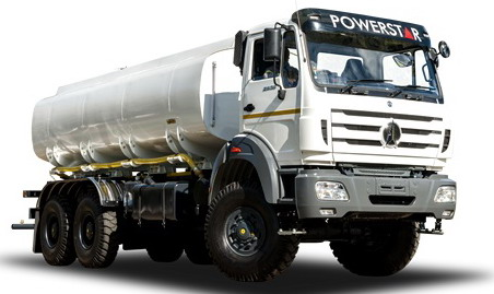 beiben 6 wheel drive fuel truck