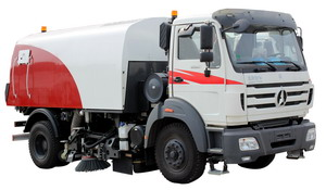 beiben road sweeper truck