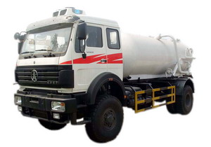 beiben sewage suction truck