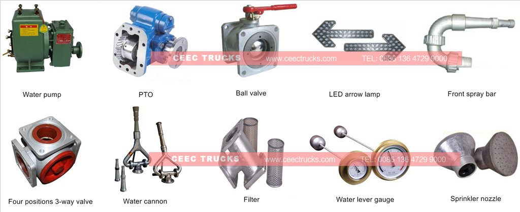 beiben water truck parts