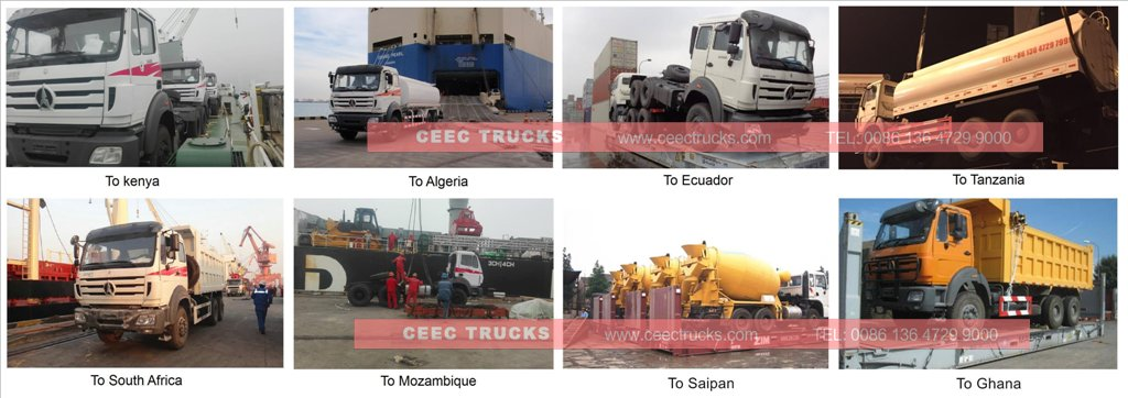 beiben water trucks shipping
