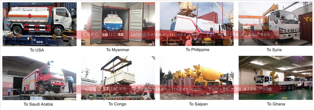 isuzu water truck shipping
