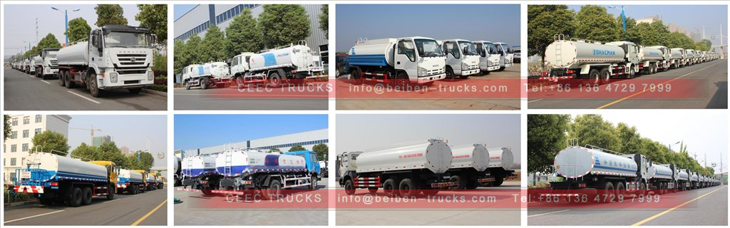 isuzu water truck in stock