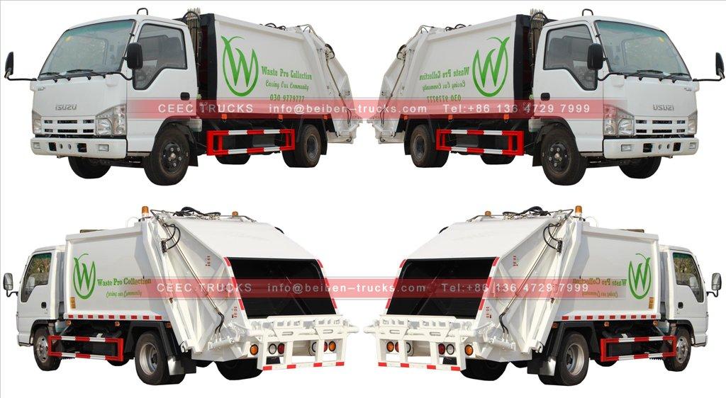 ISUZU 5 cbm garbage compactor truck