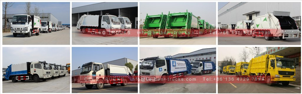 garbage compactor truck in stock