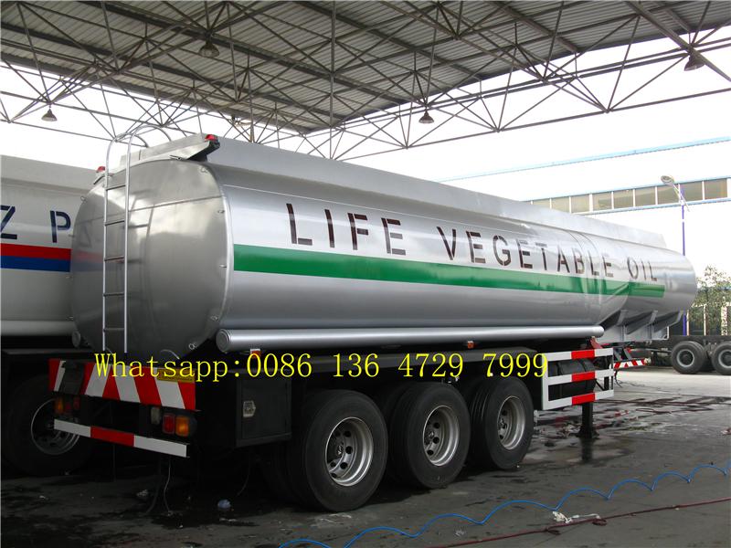45 cbm FUWA axle petrol fuel tanker semi trailer