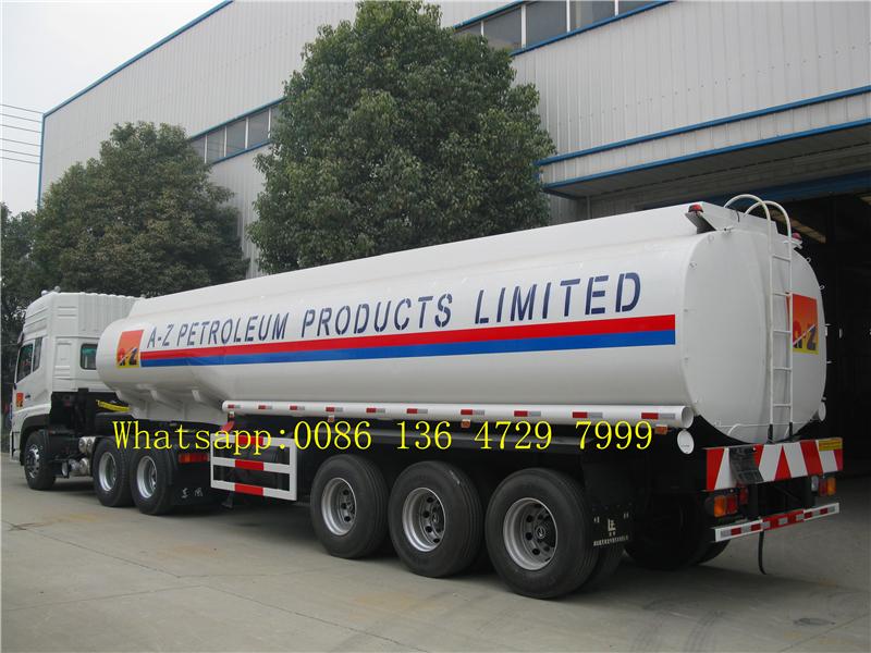 36000 L double tire fuel tank truck trailer