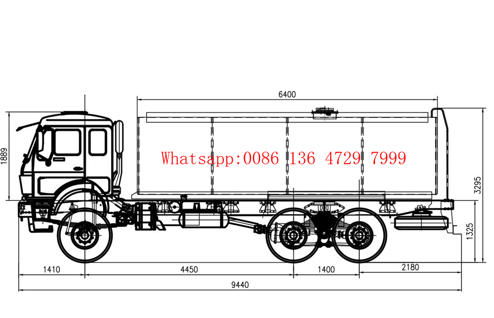 beiben 2638 water tanker truck