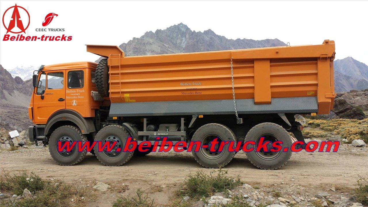 china Beiben 420 Hp 12 wheeler heavy truck