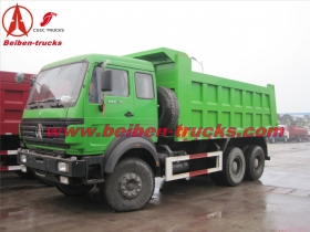 china manufacturer beiben 6*4 dump truck