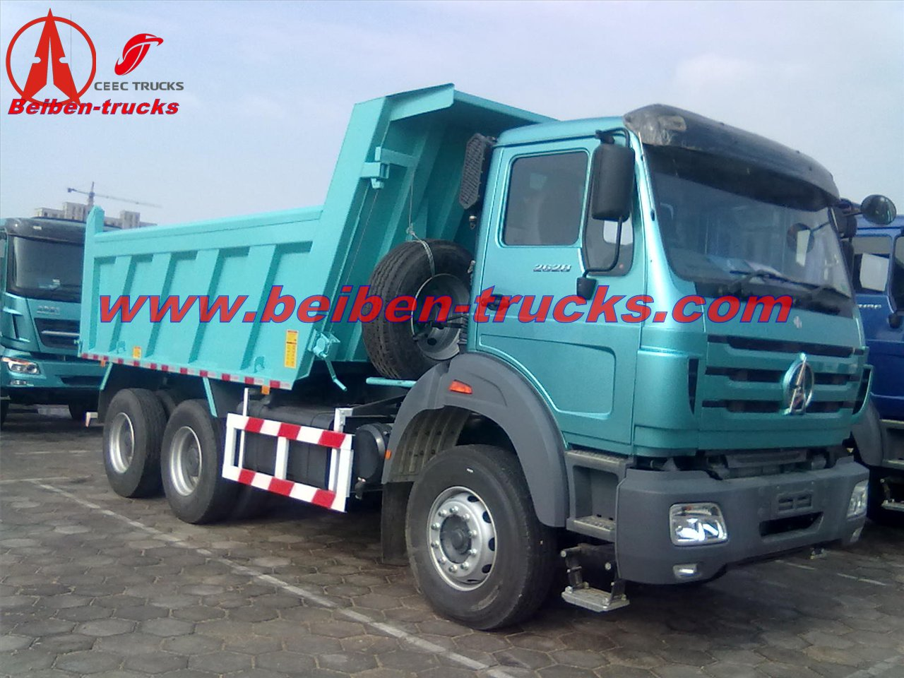 Durable Beiben NG80 Heavy Duty 6x4 dumper truck