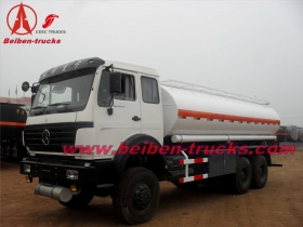 china beiben 6*4 fuel tanker trucks
