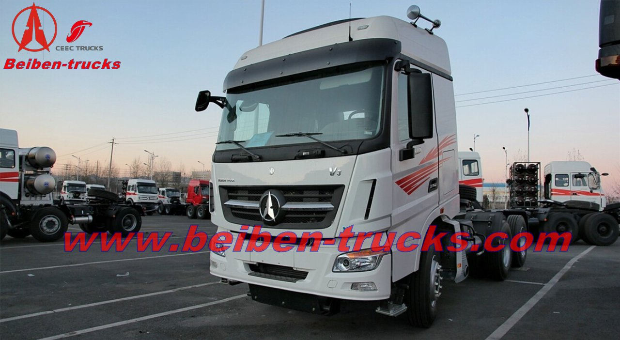 420hp prime mover Hot sale Beiben V3 2642 truck head 6*4 tractor truck