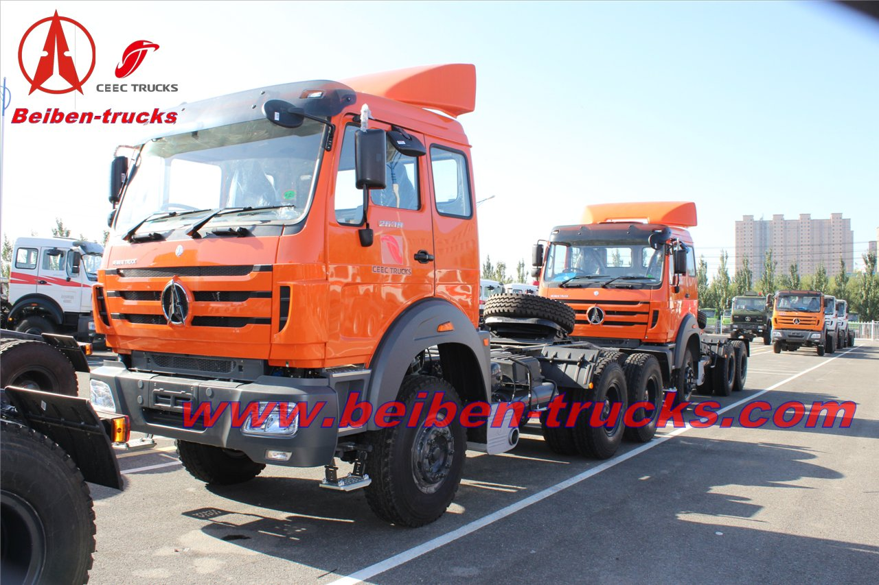 New BEIBEN North Benz NG80 2638 6x4 380hp tractor head prime mover camion hot sale in Congo low price heavy trailer truck