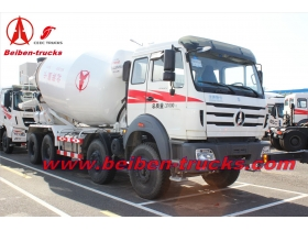 Beiben 12 wheeler 14 CBM concrete mixer truck  manufacturer