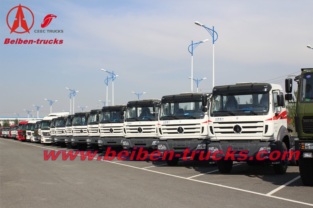 Beiben 2638 tractor truck/north benz supplier for congo