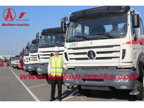 best quality China Beiben 380hp truck head 2538S tractor truck