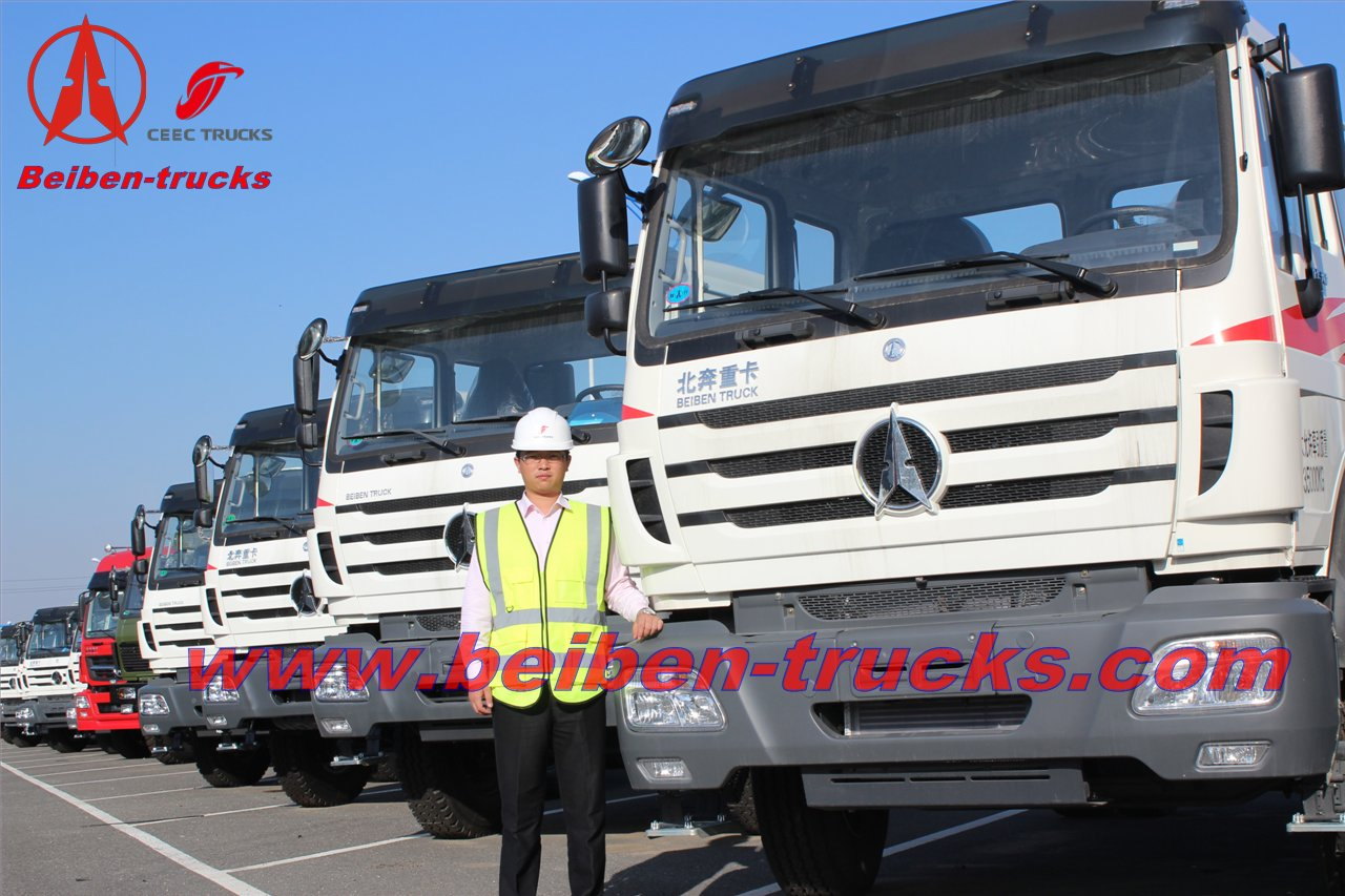 china baotou Beiben 10 wheeler tractor truck/north benz truck head