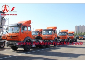 baotou Beiben haulage truck 380hp prime mover for Indonesia