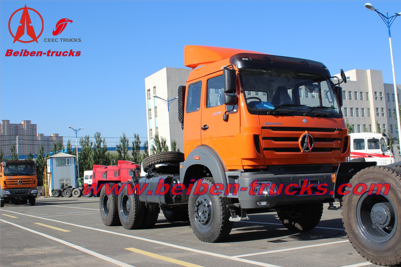 Hot sale in Congo low price in stock New BEIBEN North Benz NG80 4x2 340hp tractor head prime mover