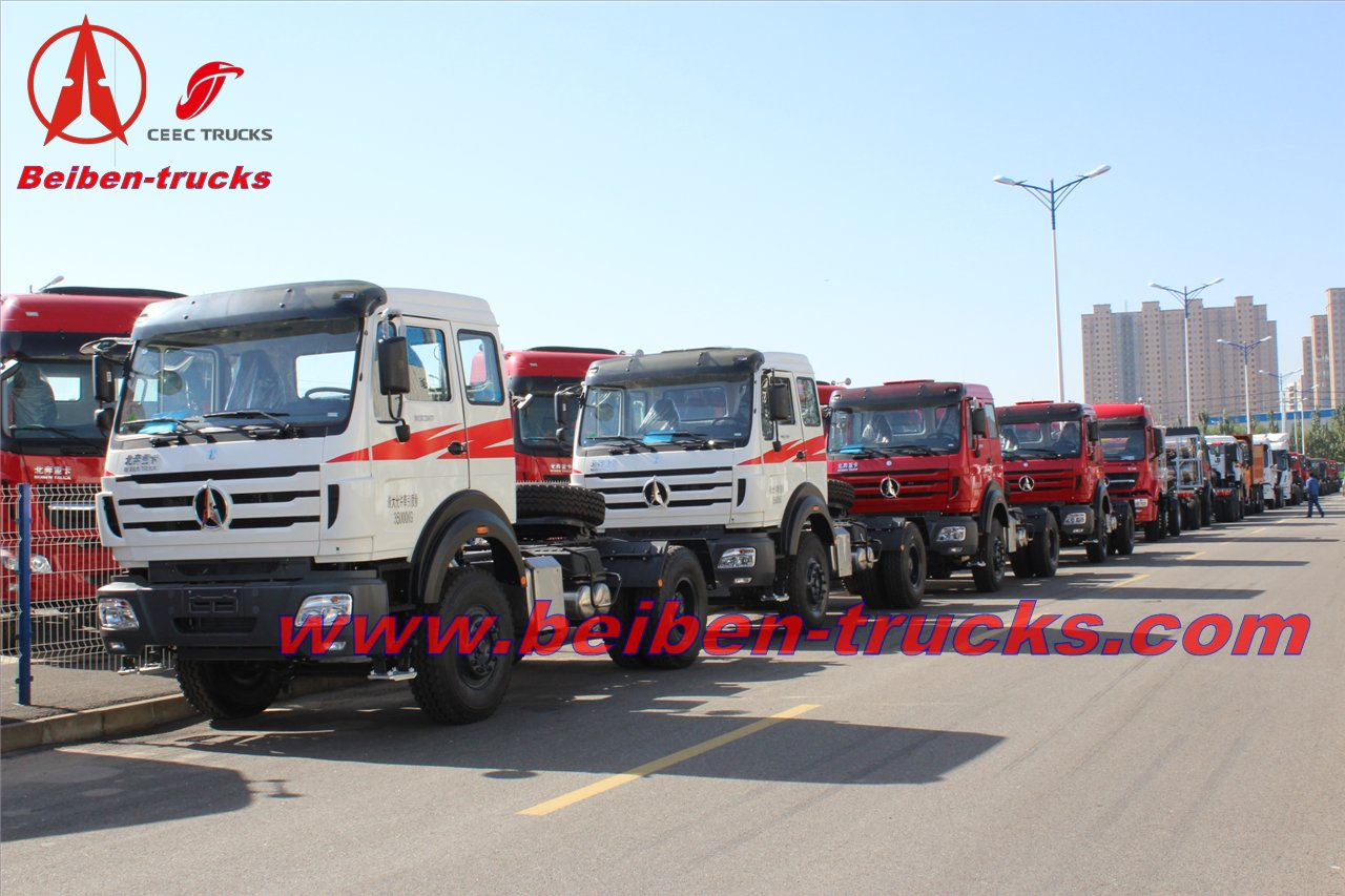 Military quality North Benz 2638 truck tractor Beiben 380hp haul truck  supplier