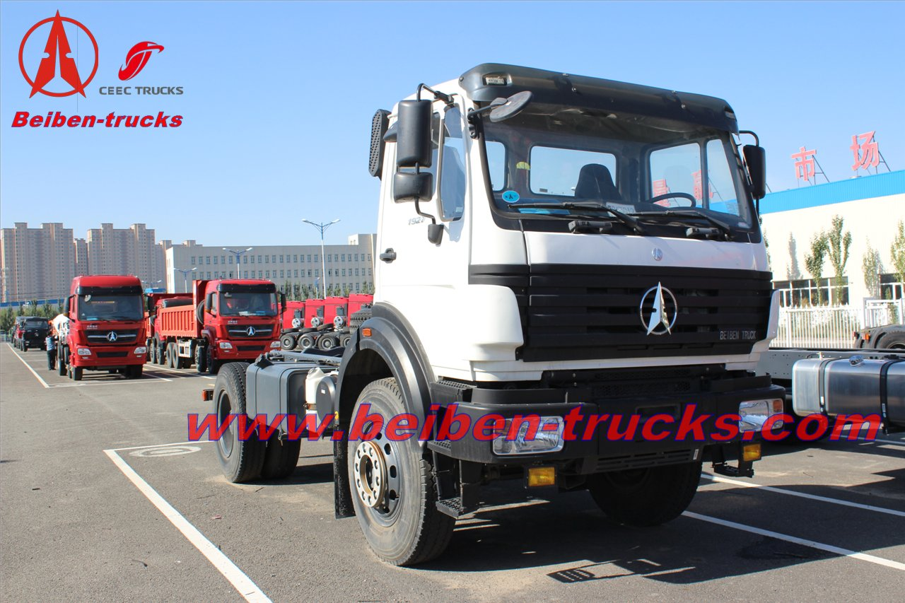 Beiben 380hp tracto camion 10 wheels tractor truck supplier