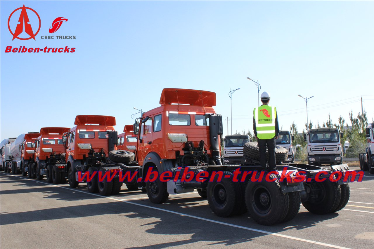 congo Beiben 10 wheels prime mover 420hp benz technology tractor truck