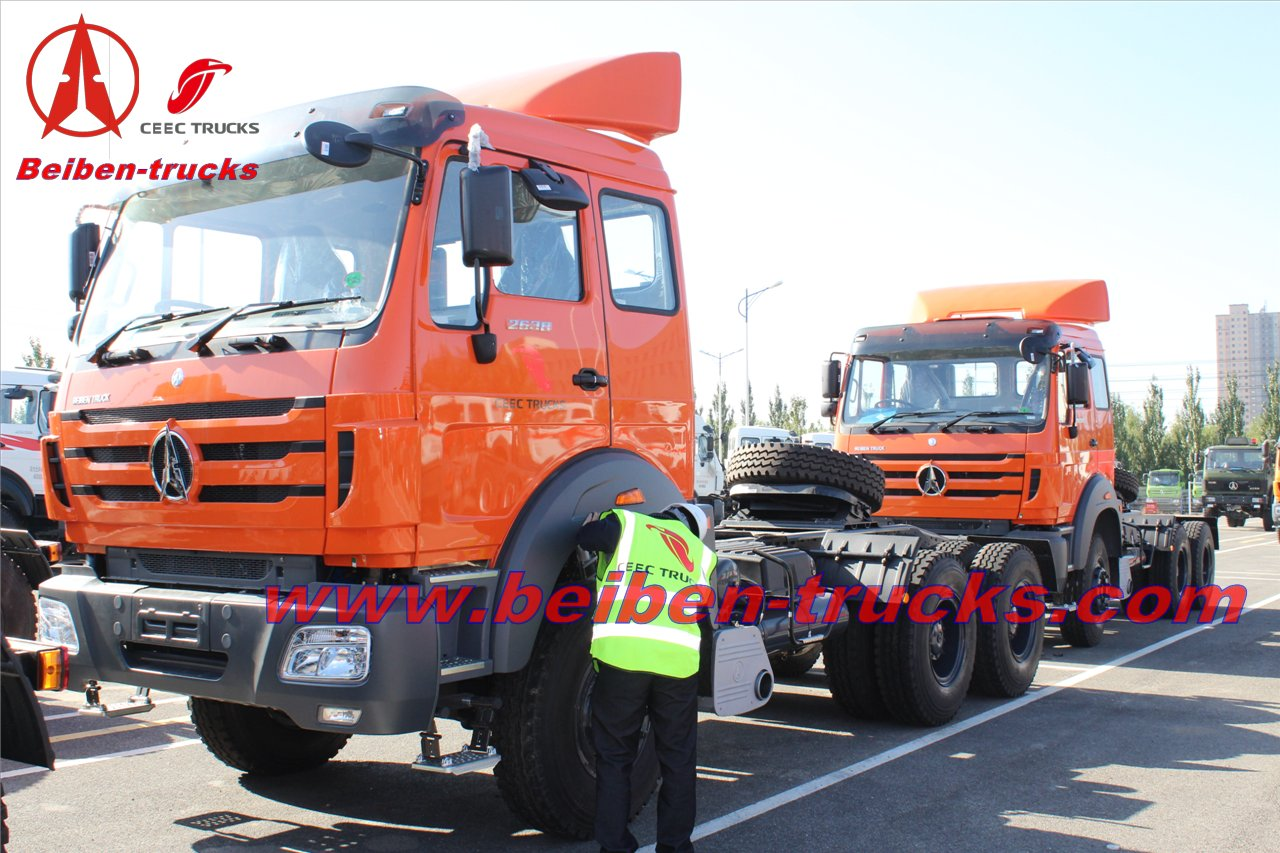 North Benz off road tractor truck 380hp beiben truck head price