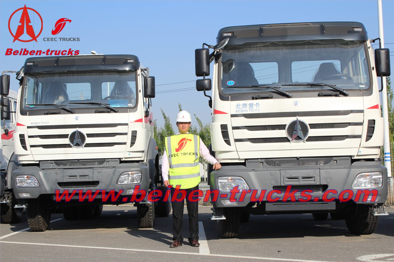 baotou North benz tractor truck for Africa 340hp Bei ben truck head