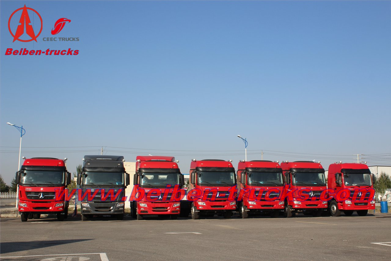 china New BEIBEN V3 420hp 6x4 tractor trailer truck for Congo