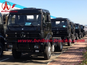Beiben 380hp trailer truck head Benz technology RHD tractor truck  for congo , pointe noire