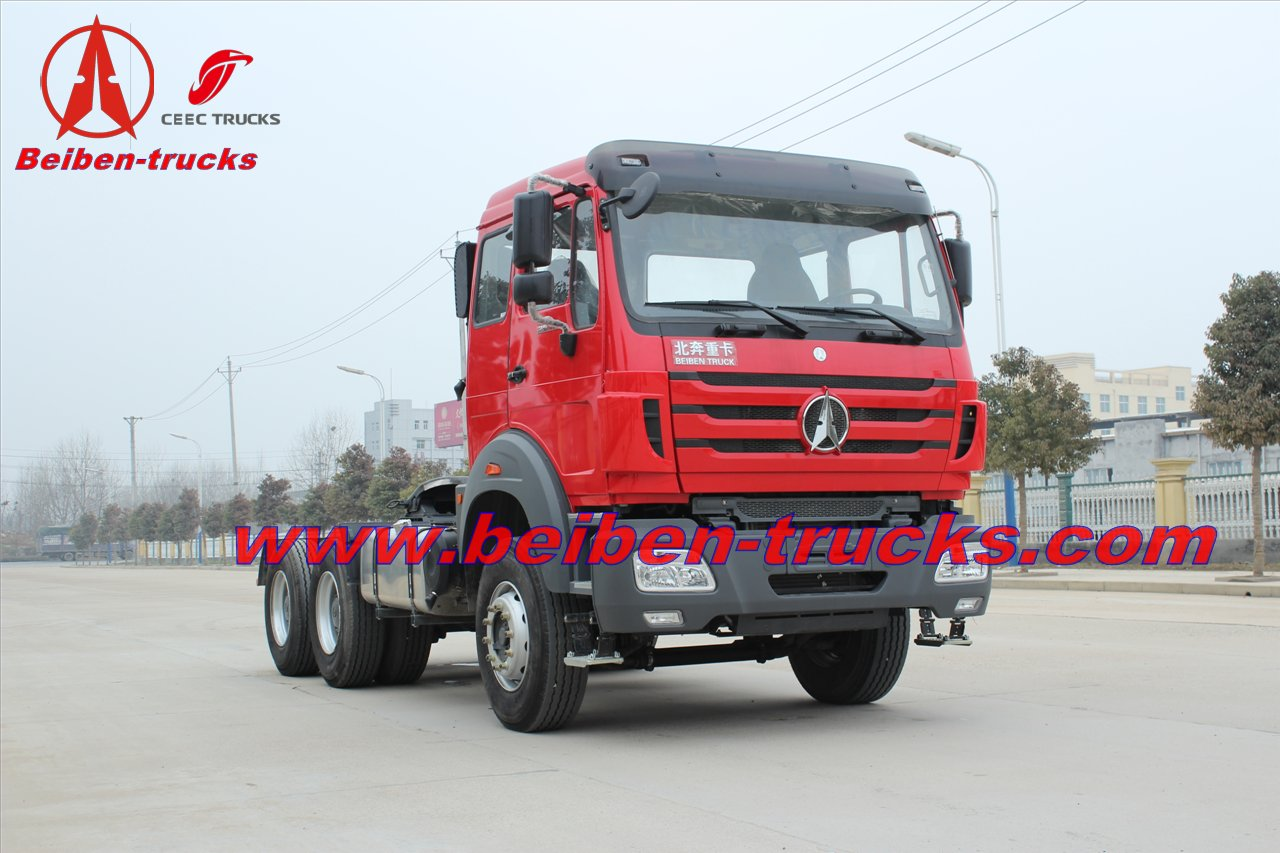 baotou Beiben power star 6x4 trucks tractor supplier