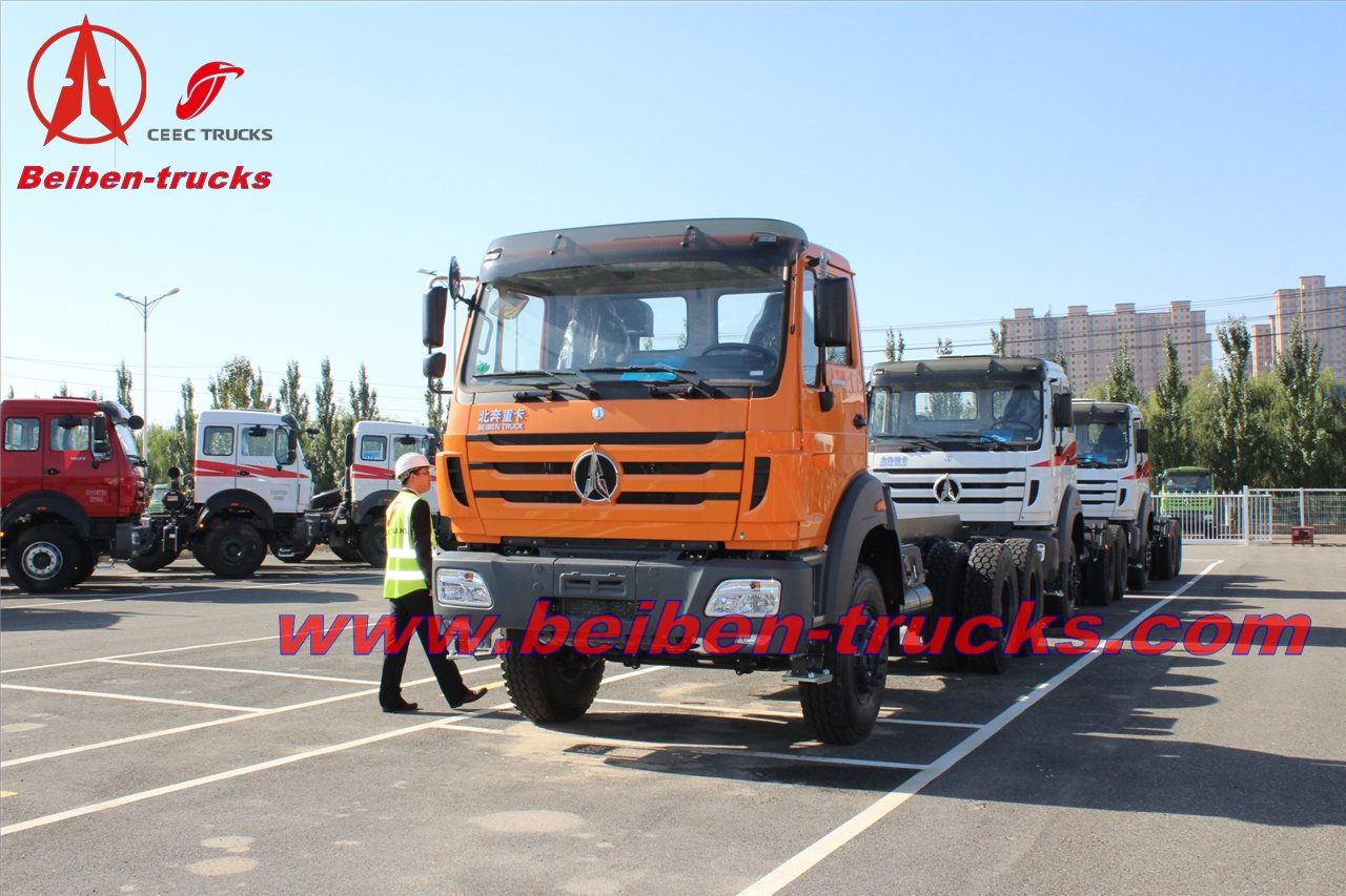 baotou 380HP Beiben NG 80 6X4 high quality truck tractor for sale