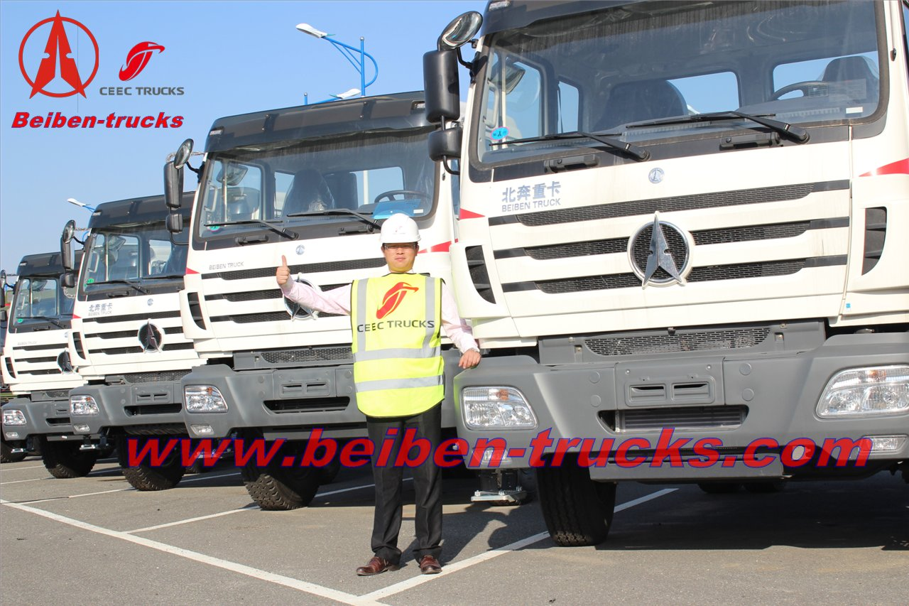 china Beiben prime mover North BENZ 10 wheels 380hp tractor truck good price
