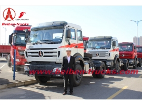 china Right hand drive Beiben 420hp prime mover North benz 2642S tractor truck
