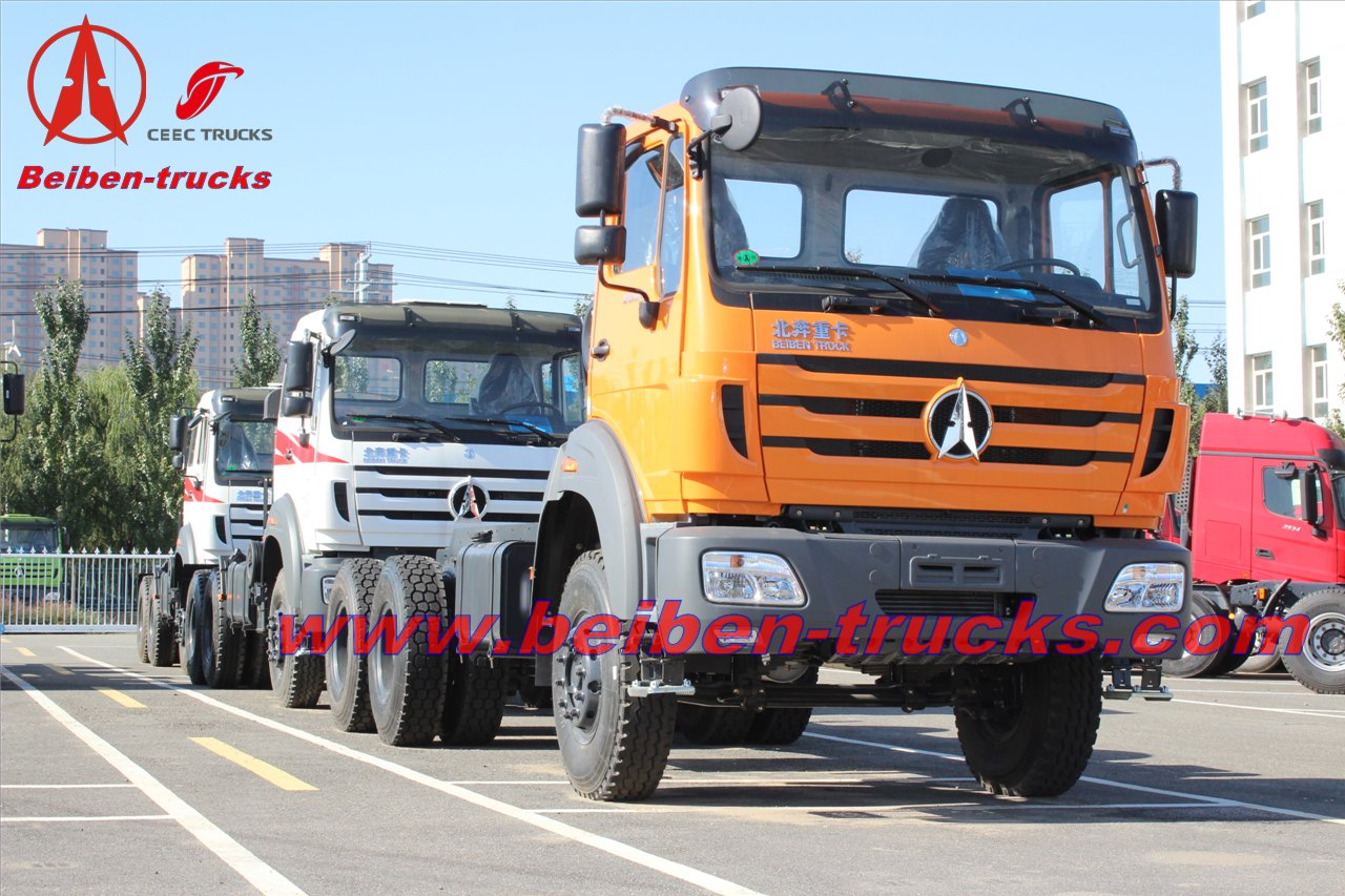 Military truck Beiben 2538 380hp truck tractor north benz prime mover  in china