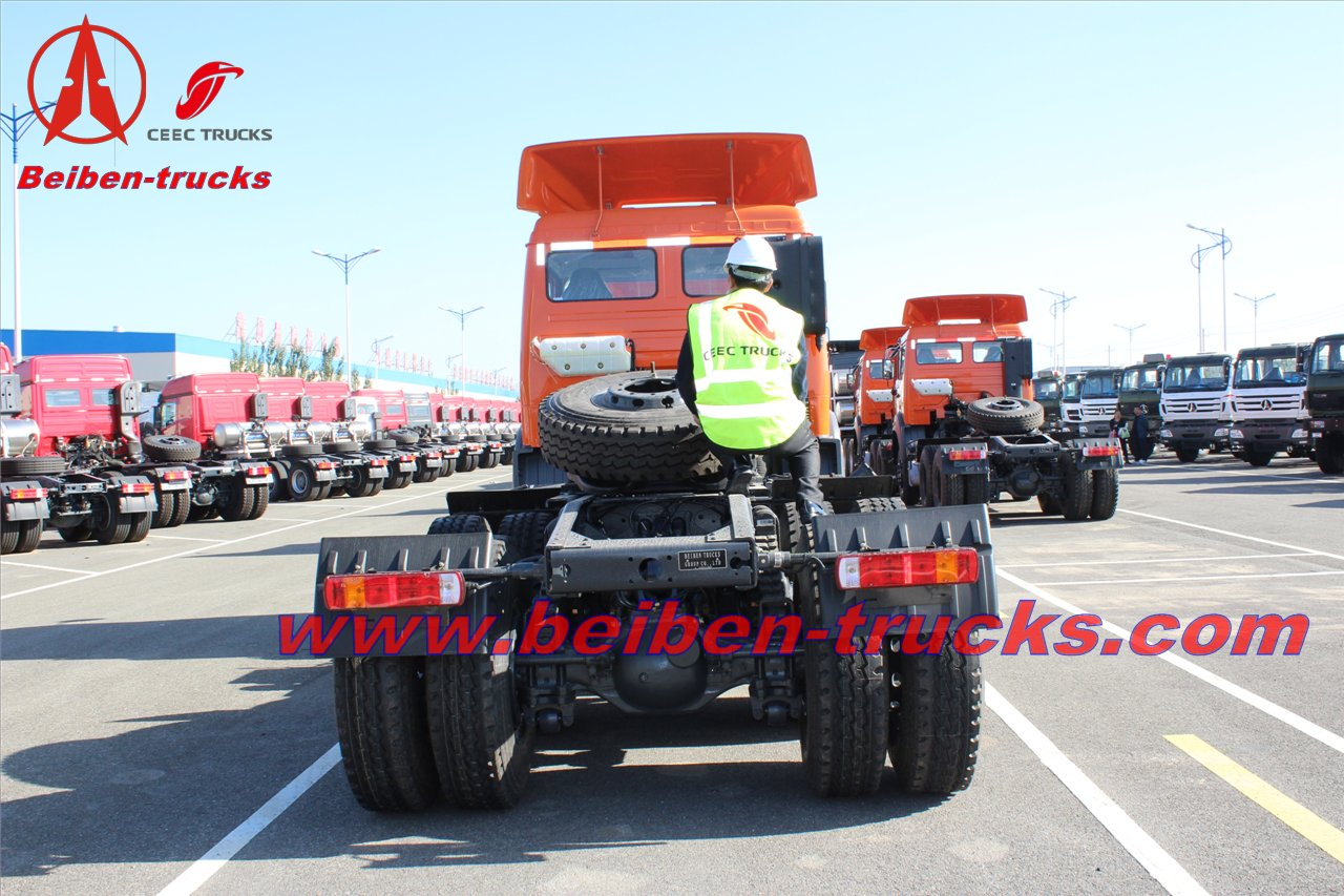 china Beiben 6*4 tractor truck 380hp 10 wheeler haulage prime mover  price