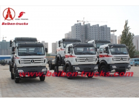 baotou North Benz 6x4 truck head 400hp tractor truck benz technology  supplier