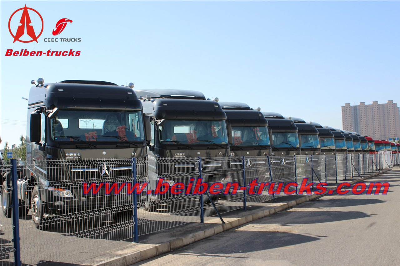 baotou Beiben 420hp tractor truck 2542S 10 wheels truck head  supplier