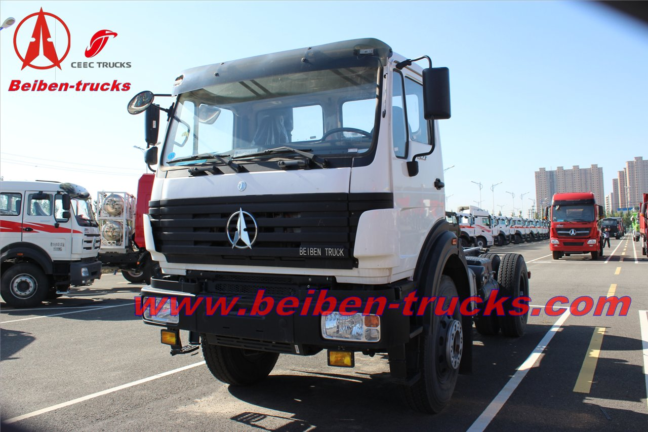 congo Beiben 380hp tractor truck 10 wheeler truck head North Benz 2538S  supplier