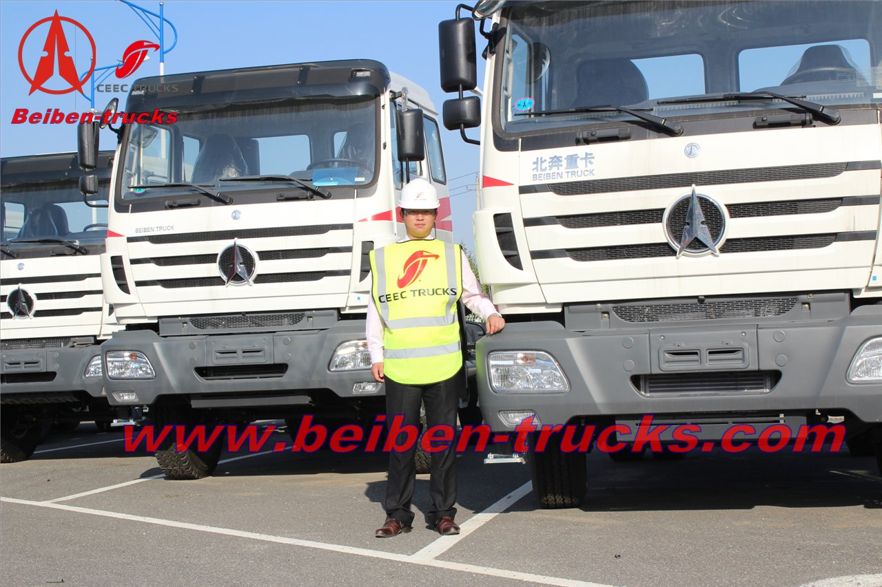 baotou Beiben 4x2 tractor truck North benz 6 wheel tractor for container transport