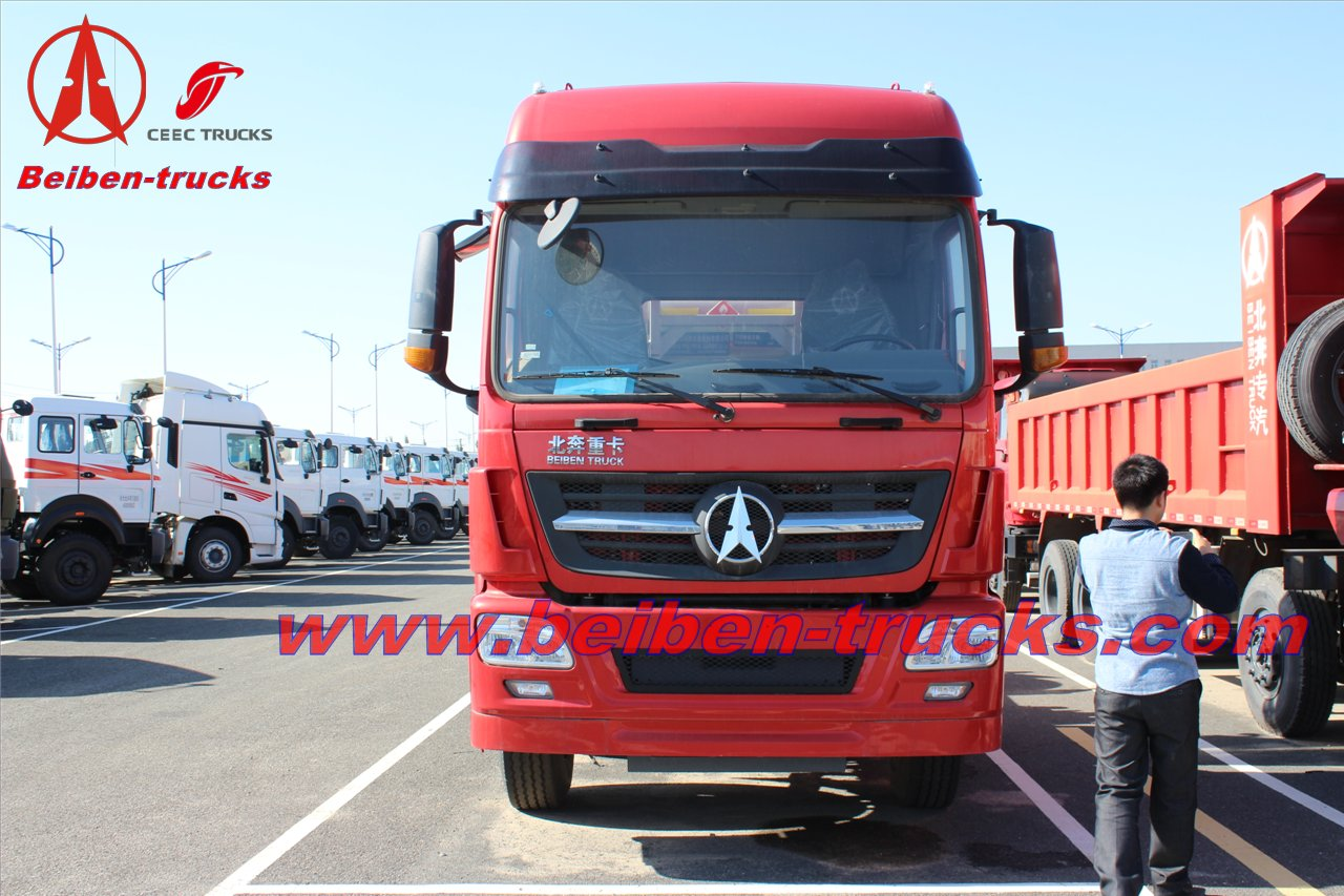 china 2015 new BEIBEN V3 480hp big truck 6x4 tractor head price