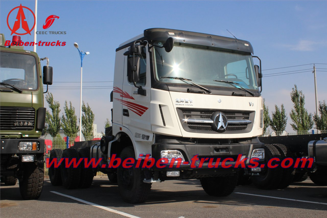 best price for 6x4 beiben V3 trailer truck/brand new north benz tractor truck