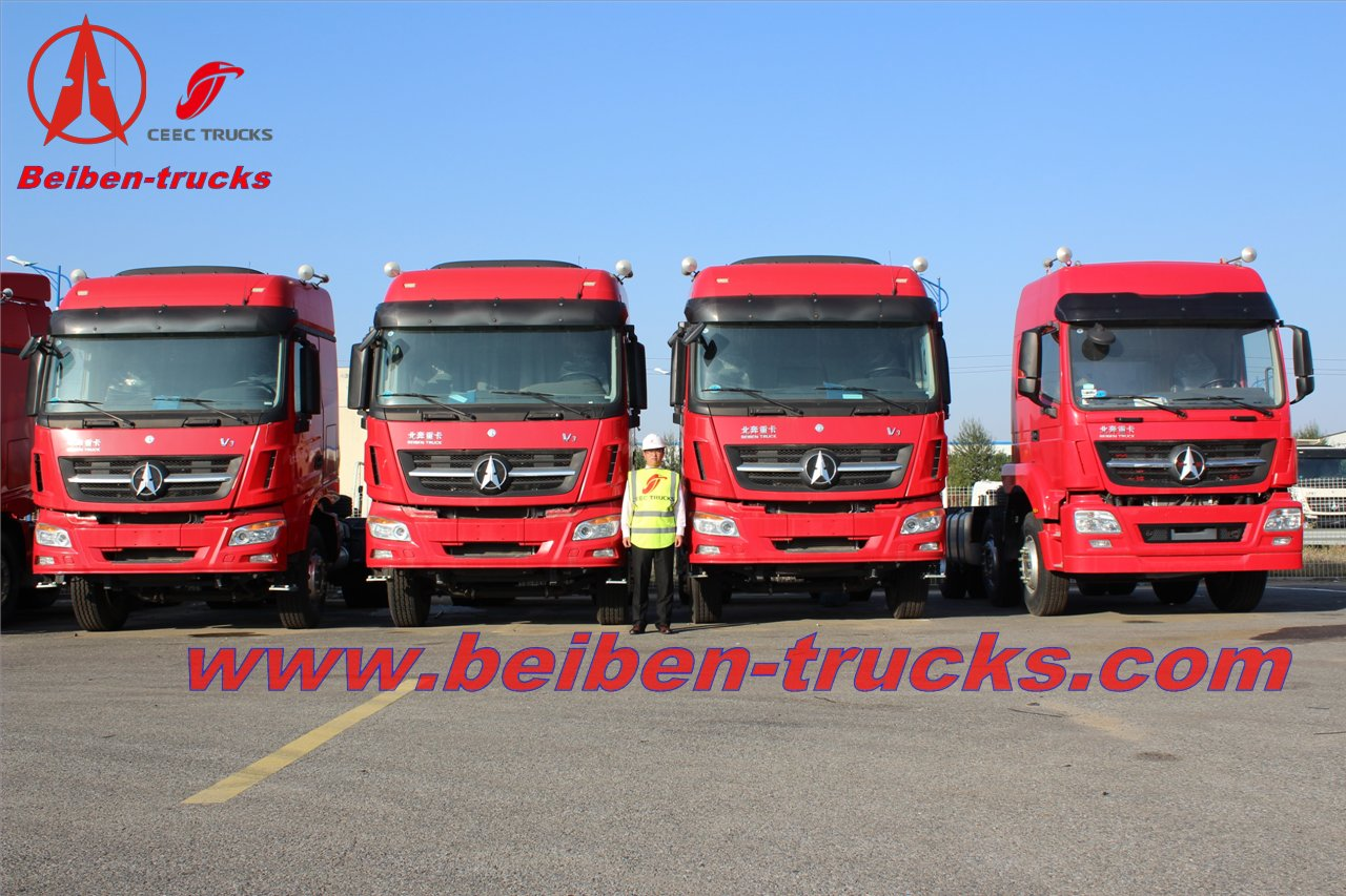 china brand new 6x4 beiben V3 trailer truck/ north benz tractor truck  supplier
