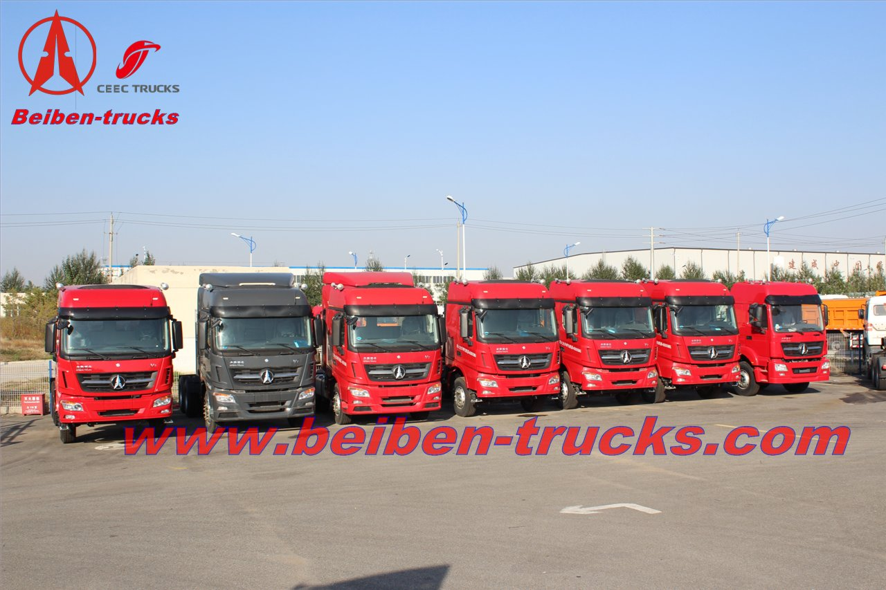 Beiben 6*4 420HP V3 tractor truck for congo