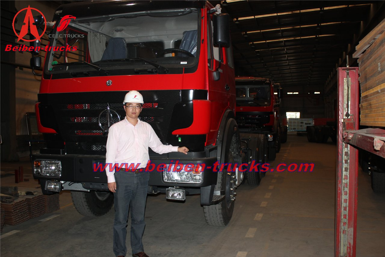 china Beiben 6x4 prime mover trailer tractor truck best price